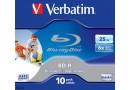 Verbatim Диск BD-R Verbatim 25 Gb, 6x (43804)