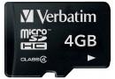 Verbatim microSDHC Class 4 Флеш карта microSD 4GB (44002)