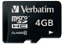 Verbatim Флеш карта microSD 4GB (44011)