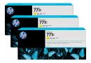 HP B6Y34A Желтые чернильные картриджи Designjet HP 771 в тройной упаковке
