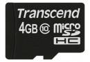 Transcend Флеш карта microSD 4GB  (TS4GUSDC10)