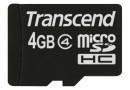 Transcend Флеш карта microSD 4GB (TS4GUSDHC4)
