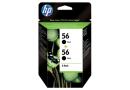 HP C9502AE Черные картриджи HP 56 в двойной упаковке (HP C6656A * 2)