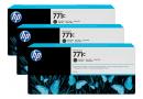 HP B6Y31A Матово-черные чернильные картриджи Designjet HP 771 в тройной упаковке