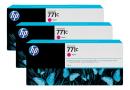 HP B6Y33A Пурпурные чернильные картриджи Designjet HP 771 в тройной упаковке