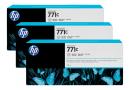HP B6Y38A Тройная упаковка картриджей со светло-серыми чернилами Designjet HP 771
