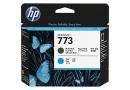 Печатающая головка HP C1Q20A Черная матовая / Голубая № 773