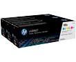 HP CF371AM Цветные картриджи 128A в тройной упаковке (CE321A / CE322A / CE323A)