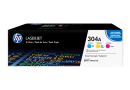 HP CF372AM Цветные картриджи HP 304A в тройной упаковке (CC531A / CC532A / CC533A)