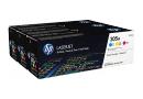 HP CF370AM Цветные картриджи HP 305A в тройной упаковке (CE411A / CE412A / CE413A)