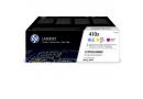 HP CF252XM Цветные картриджи HP 410X в тройной упаковке (CF411X/CF412X/CF413X)