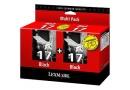 LEXMARK 80D2954 Черные картриджи в двойной упаковке № 17